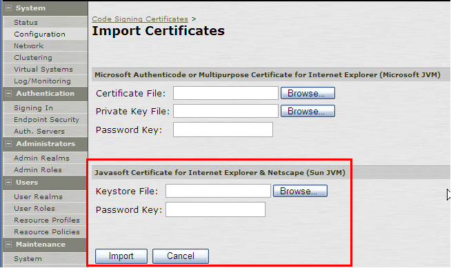 Pulse Secure Article: KB2453 - How to obtain a Javasoft