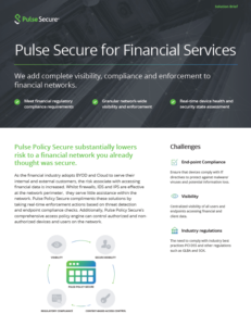 Pulse Secure for Financial Services