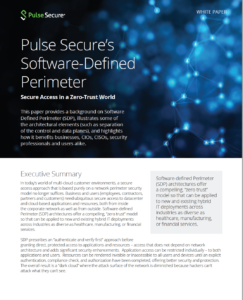 Pulse Secure Software Defined Perimeter