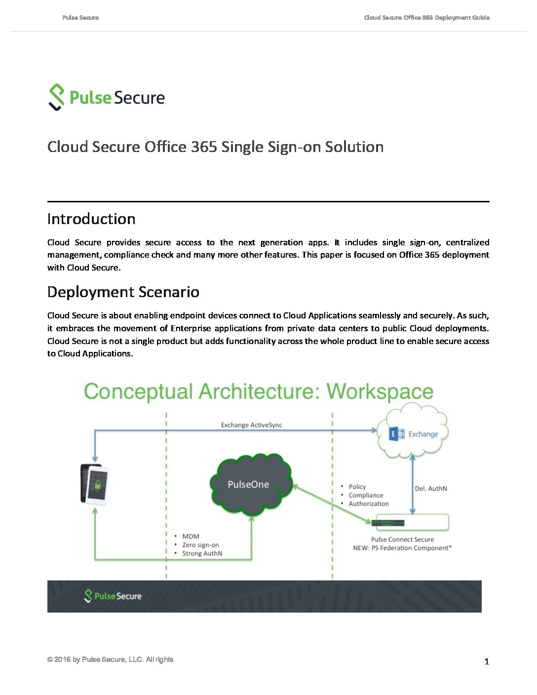 Cloud Secure Office 365 Single Sign-on Solution | Pulse Secure