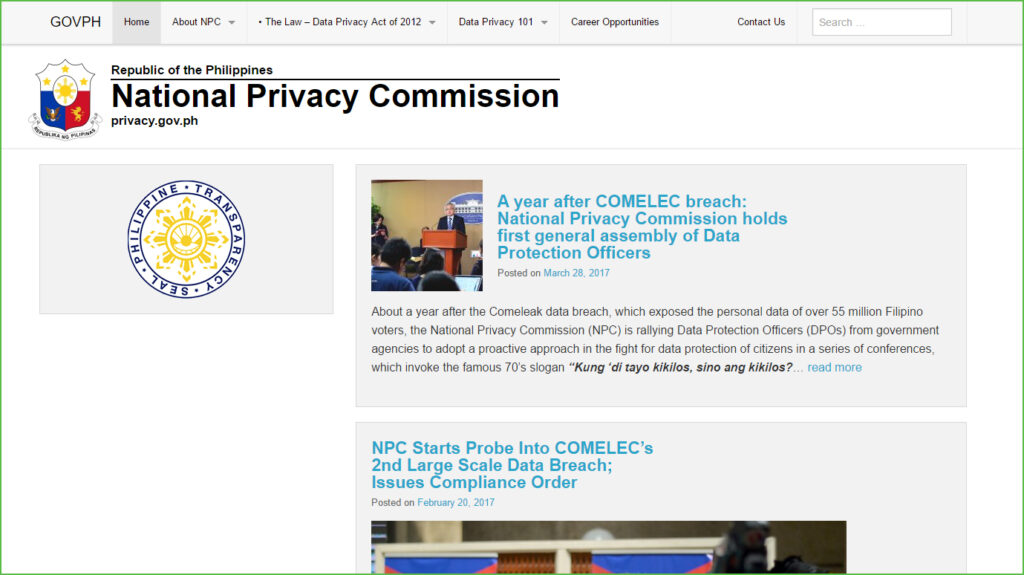 National Privacy Commission of Philippines