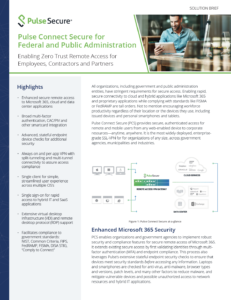 Pulse Connect Secure for Federal and Public Administration